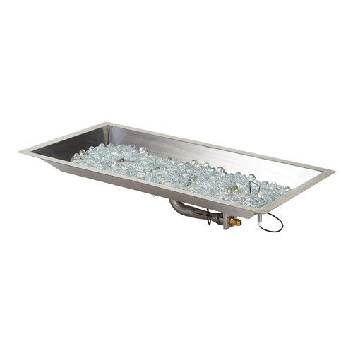 Found it at Wayfair - Steel / Glass Gas Fire Pit