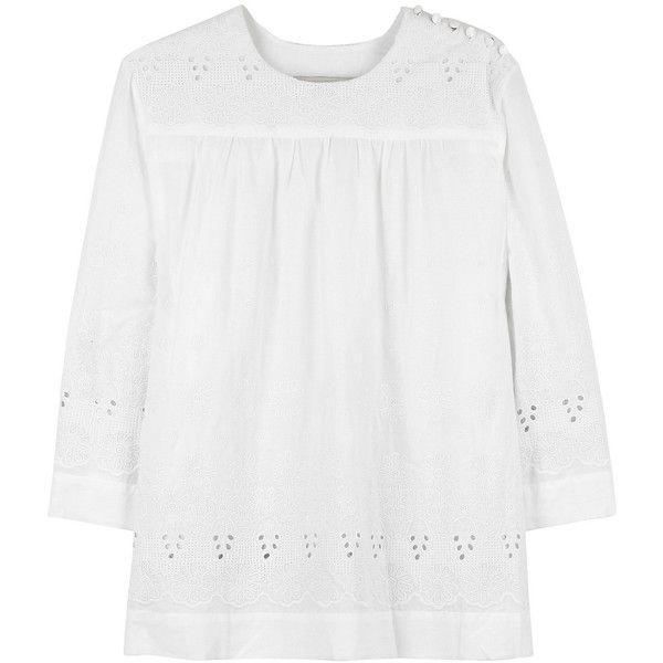 By Malene Birger Suri tunic top | NET-A-PORTER.COM (4,755 MXN) ❤ liked on Polyvore featuring tops, tunics, shirts, blouses, net shirt, netted shirt, shirt tunic, netted tops and by malene birger