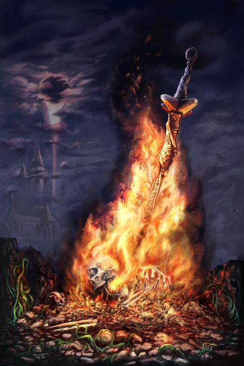 Firelink Digital 24x36 Via R Art Dark Souls Wall Art Dark Souls Life Art