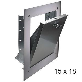 15 X 18 Stainless Steel Bottom Hinged Chute Intake Door