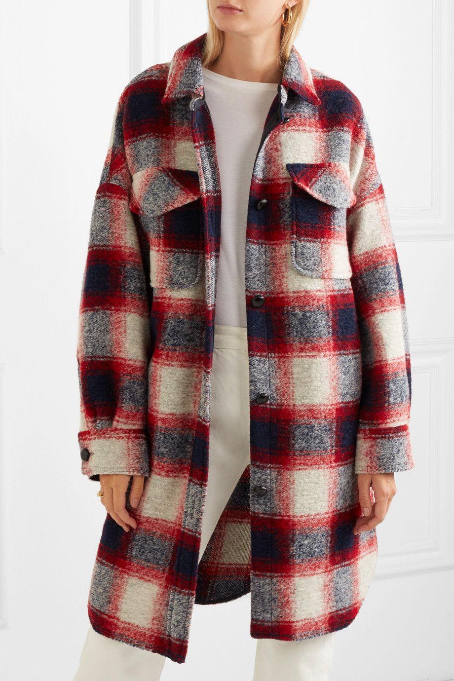 01c91229323e15 ISABEL MARANT ÉTOILE Gario oversized checked wool-blend flannel coat ...