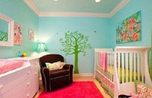 Resultado de imagen para decoracion de cuarto para ni as for Decoracion paredes habitacion bebe nina