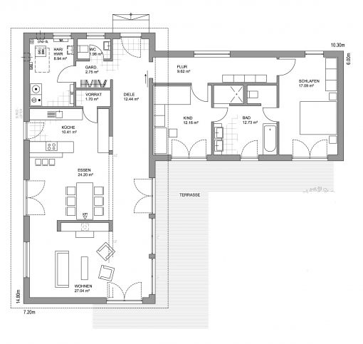 bungalow l-form - google-suche | home | pinterest | bungalows, Badezimmer