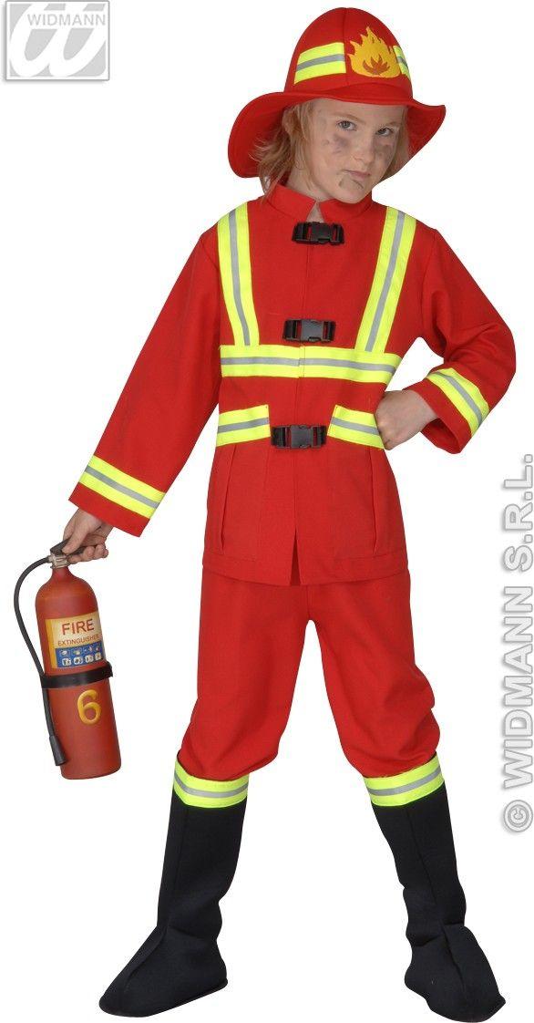 Fireman Costume Child F Optic Heavy Fancy Dress Costume Fire