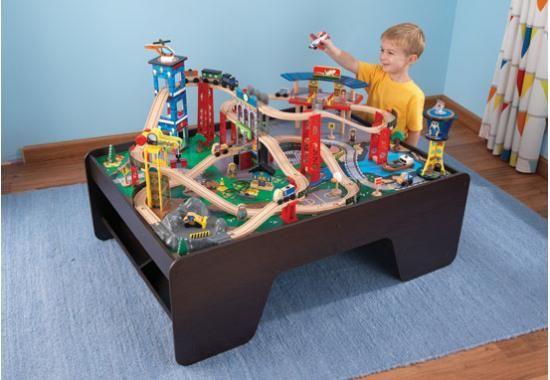 Super Highway Train Set and Table | Kids | Pinterest | Train set