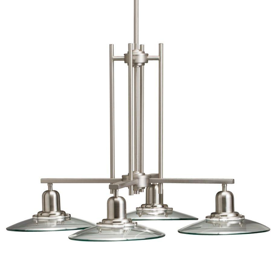 Shop allen + roth 4-Light Galileo Brushed Nickel Chandelier at Lowes ...