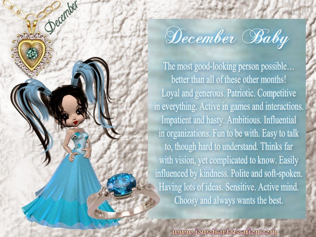 Zodiac and Birth Month Jewels Art Creation December