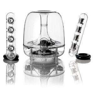Harmon Kardon Soundsticks III: Classic good looks, part of the permanent collection at MOMA, and incredibly capable.