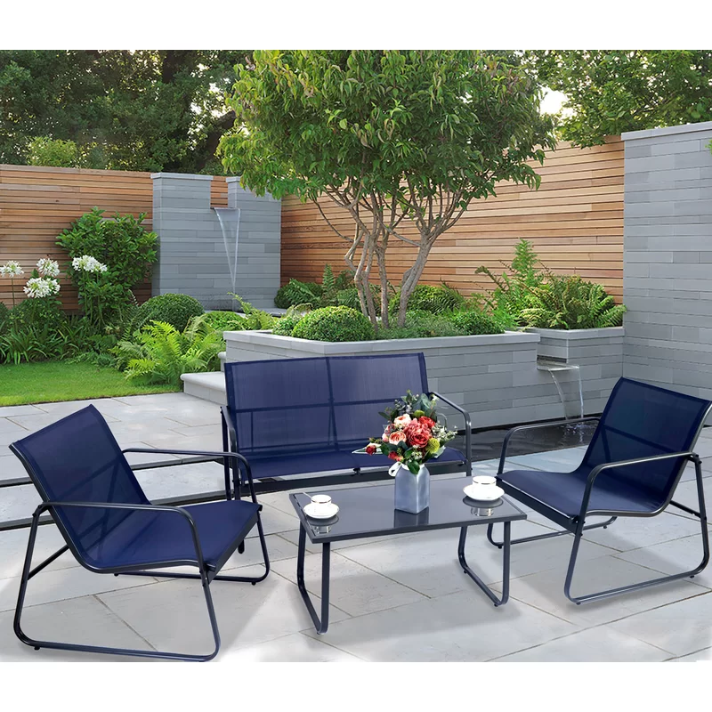 Virginio 4 Piece Complete Patio Set in 2020 | Patio ... on Complete Outdoor Living id=98914