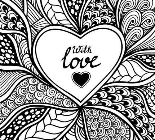 Be My Valentine Adult Coloring Page