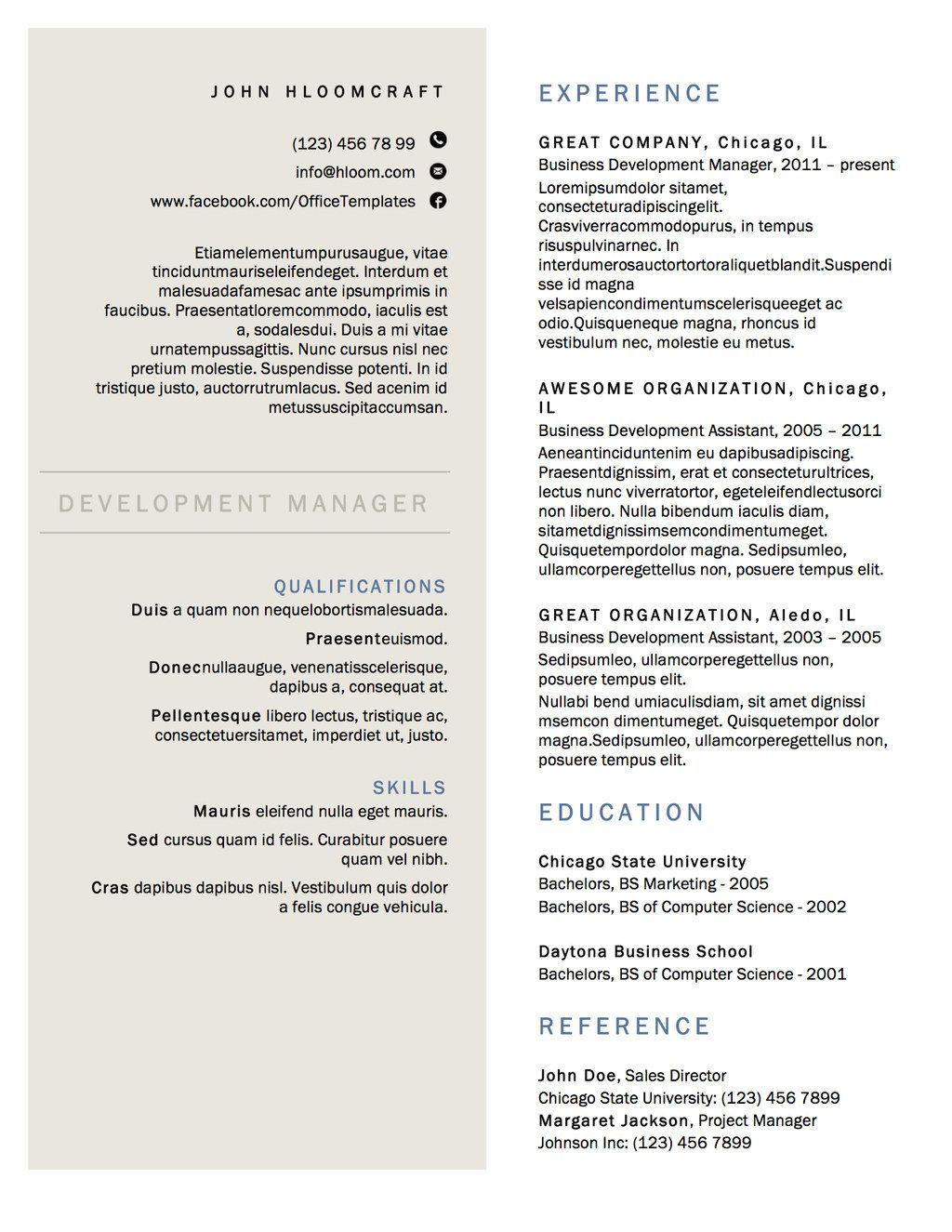 21 Free Résumé Designs Every Job Hunter Needs   Target, Caza y Columnas
