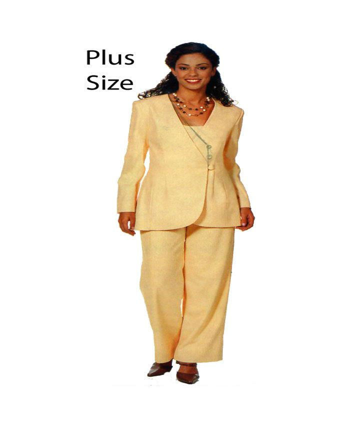 Womens Suit See Sew Butterick 6511 Sewing Pattern Loose Fit