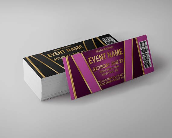 Tickets Template, concert ticket, gala ticket, party ticket, CMYK - concert tickets design