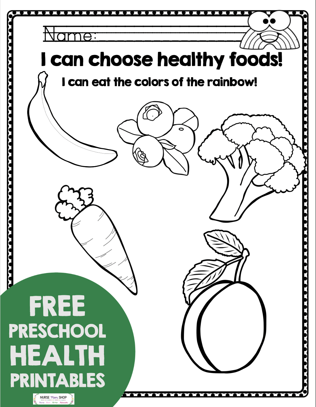 Free Health And Nutrition Preschool And Kindergarten