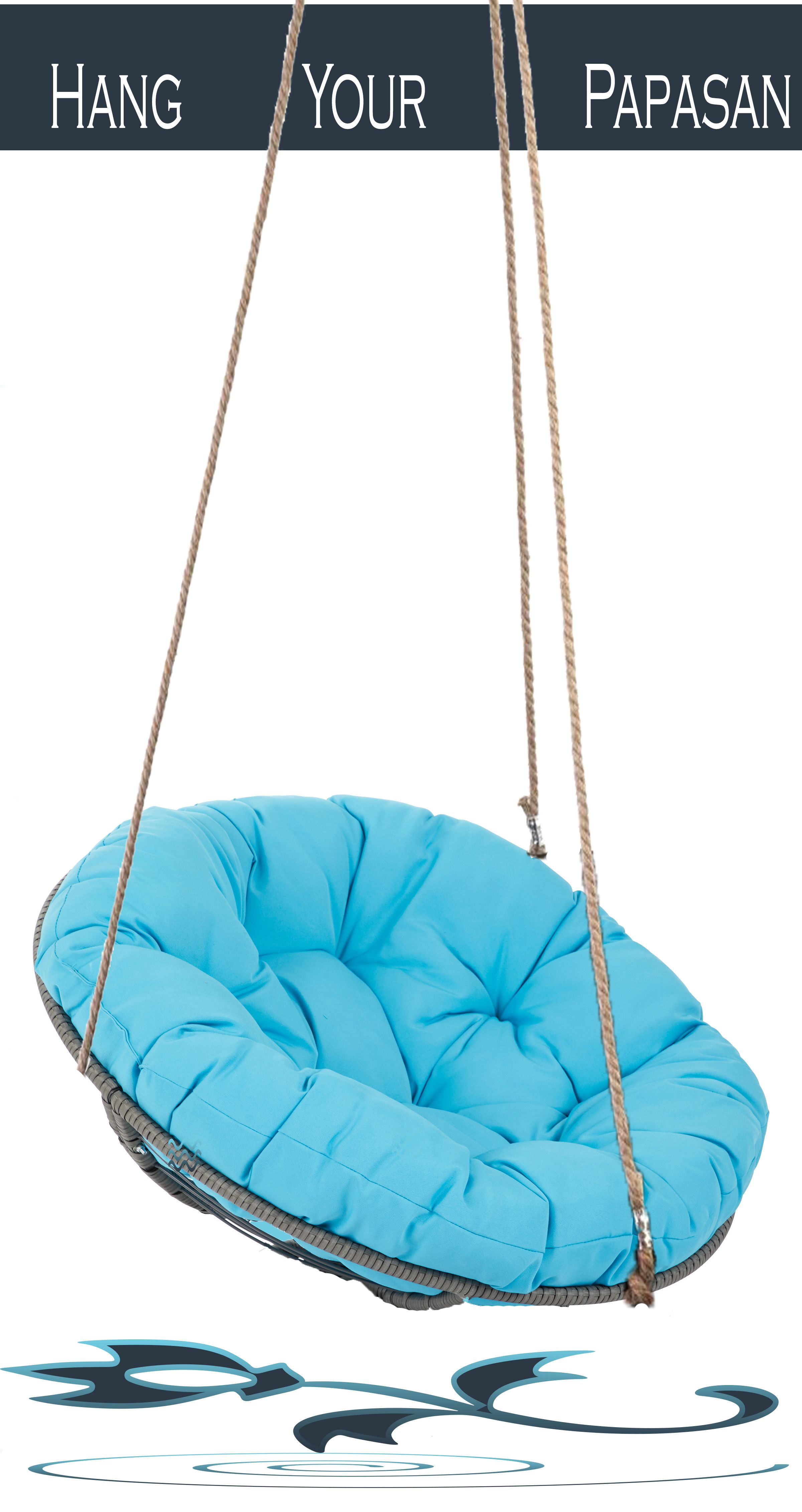 This Chair Is Called Hanging Papasan I Love It So Much The Collor Of The Thick Cushion Is Simply Beautiful Bowl Chair Hanging Chair Hanging Lounge Chair