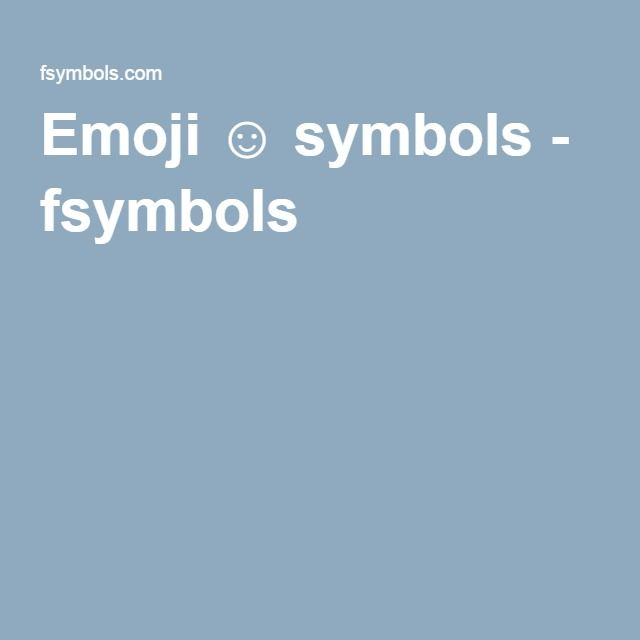 Emoji Symbols Fsymbols Computer And Writing Pinterest
