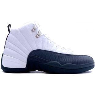 136001102 Air Jordan XII 12 Retro Mens Basketball Shoes White Flint Grey A12009