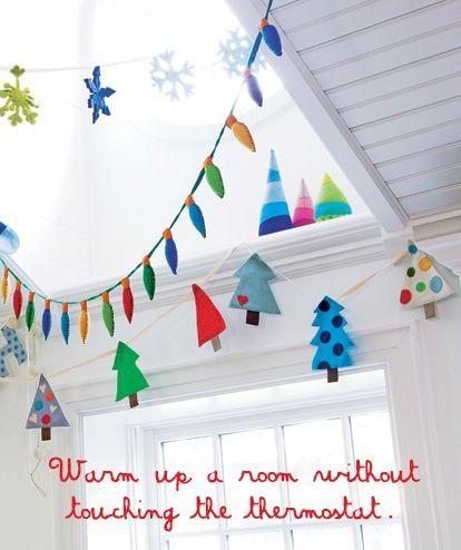 Cute Christmas Decorations For Kids Room Felt Tree Snowflake
