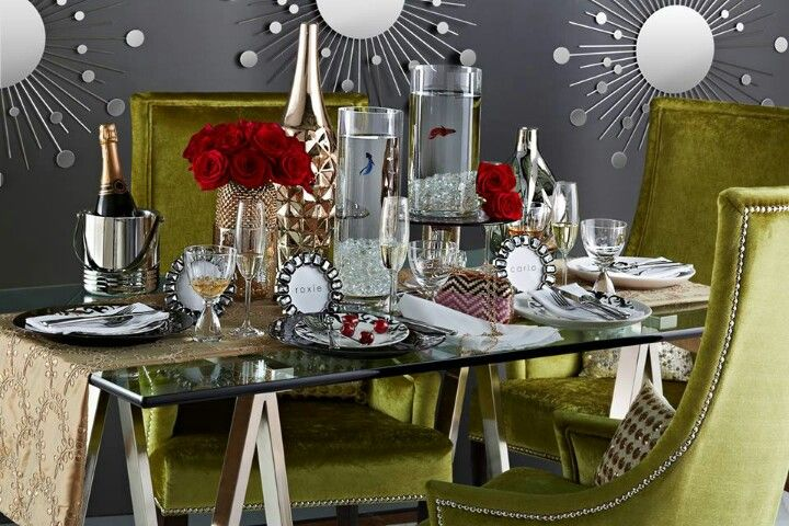 Glamorous dining room from Home Goods.