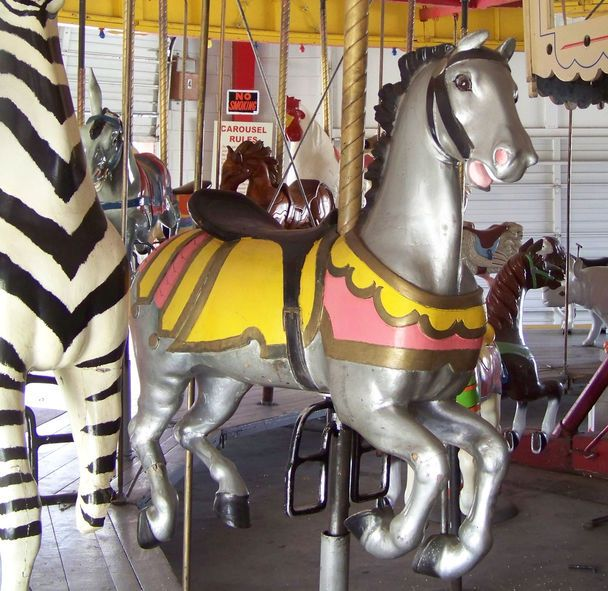 Spring River Park Carousel Roswell, NM Chubby Illions Jumper © Jean Bennett