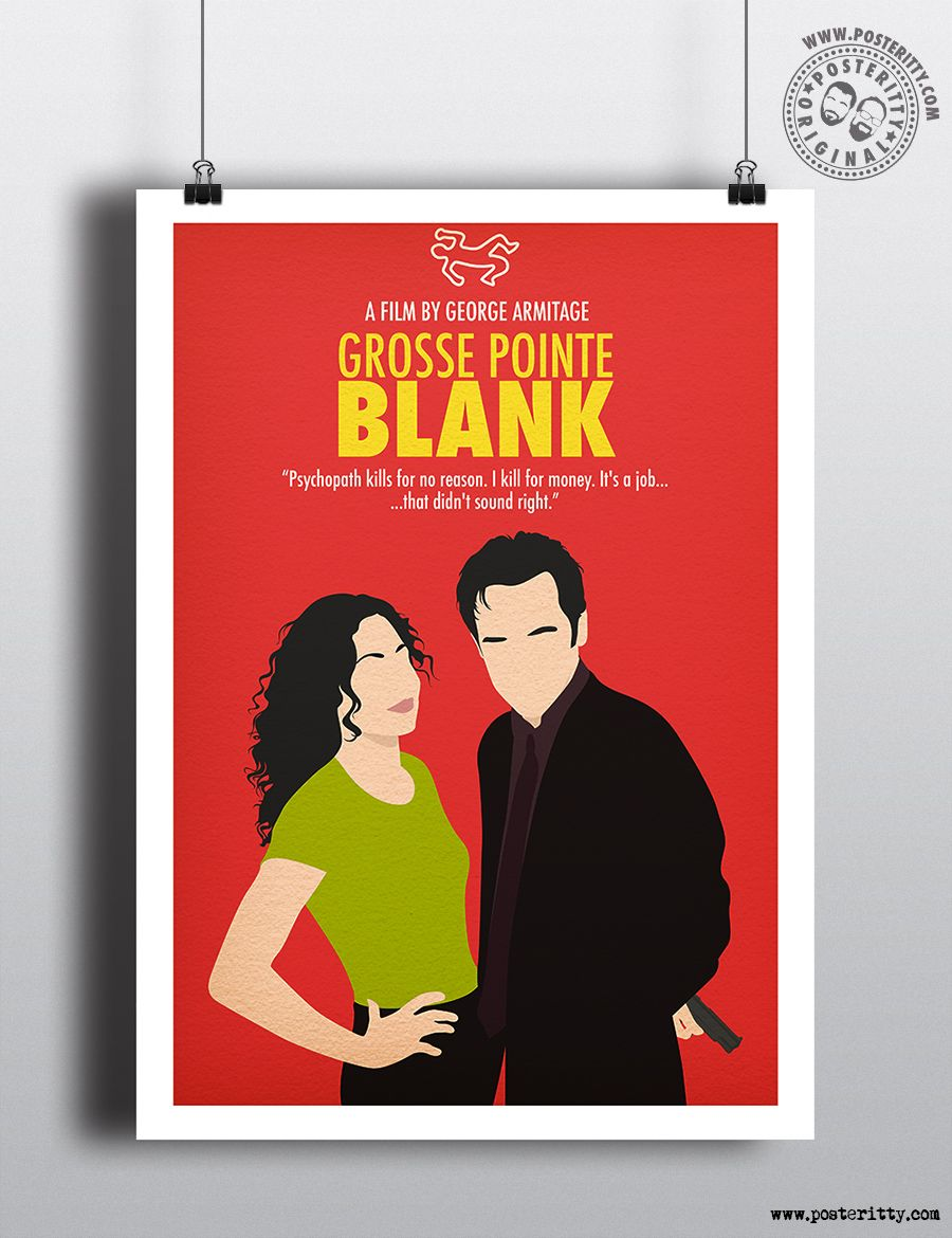 Minimalist Art Movie Poster Minimal Print Posteritty GROSSE POINTE BLANK
