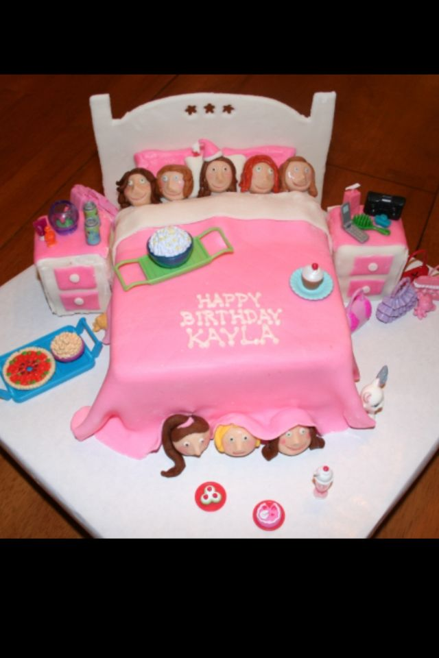 Cool slumber party or any GIRL party cake It even says my name
