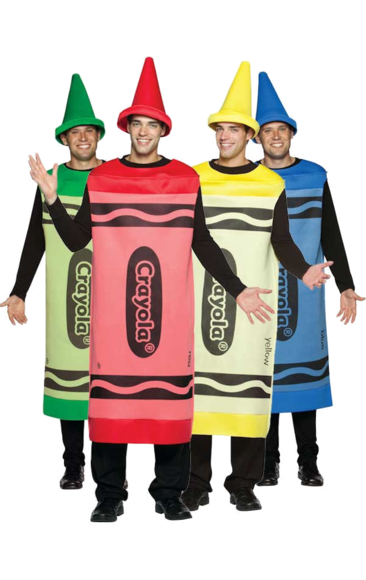 Mens Crayola Crayon Blue Tunic Stag Night Group Fancy Dress Costume