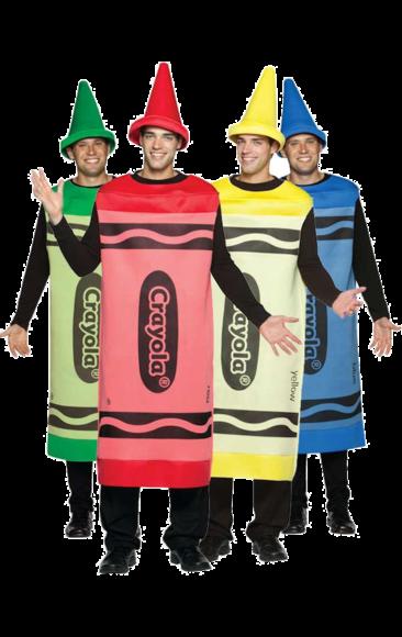 Crayola Crayon Group Costumes Jokers Masquerade Fancy Dress Costumes Halloween Fancy Dress Crayon Fancy Dress