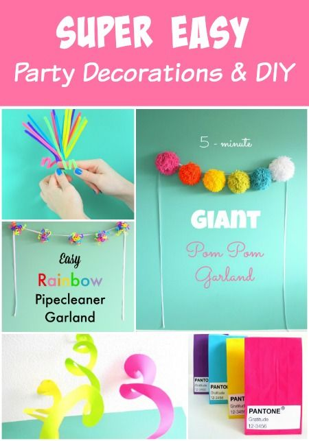 Party decorations loot bags and other ideas all SUPER EASY Any