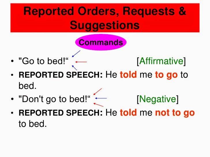 English Honori Garcia: REPORTED SPEECH. COMMANDS AND REQUESTS ...