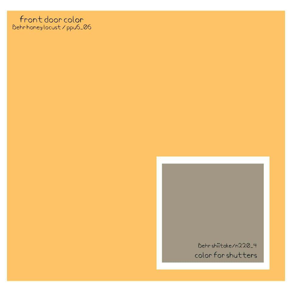 Best Behr Paint Colors For Front Door And Shutters Honey 400 x 300