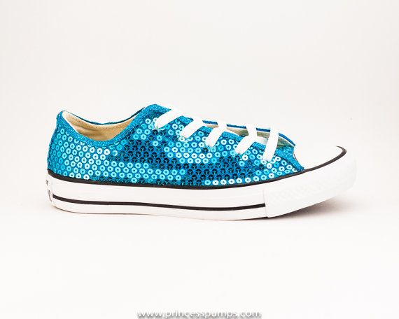 fe96f0be8b3 Tiffany Box Blue Sequin Canvas All Star Lo Top Sneakers Shoes on Etsy