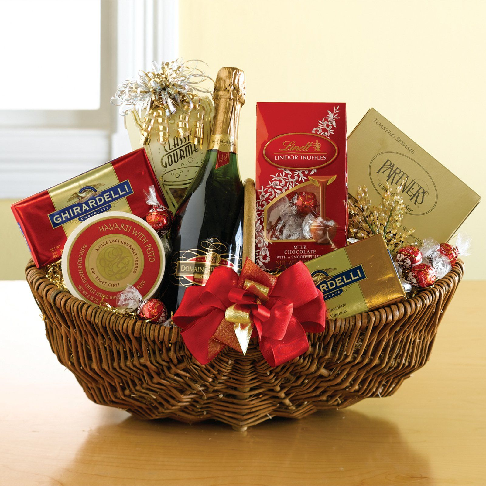 Have to have it. The Sparkler Wine Gift Basket 79.95