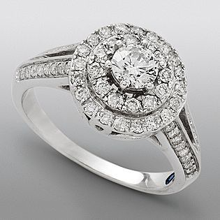 david tutera engagement ring and it has a little sapphire on the inside of the - David Tutera Wedding Rings