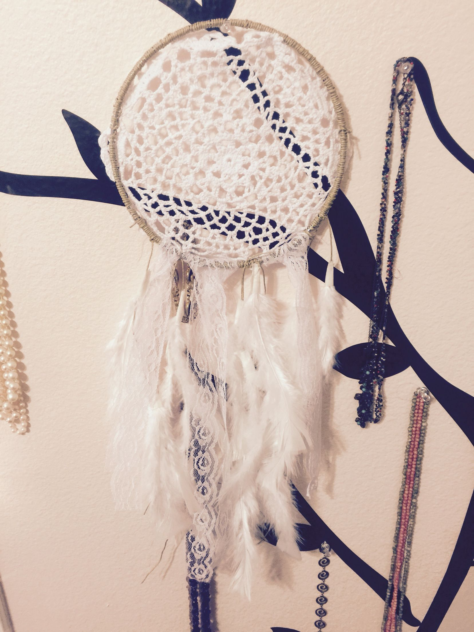 Walmart Dream Catcher Inspiration Metal Ring 3 Pack $5 Michaels Feathers $2 Walmart Lace $3 Walmart Design Decoration