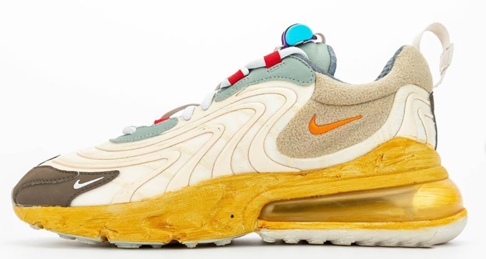 bust Validation grocery store  Travis Scott x Nike Air Max 270 React in 2020 | Nike air max, Air max  sneakers, Nike air