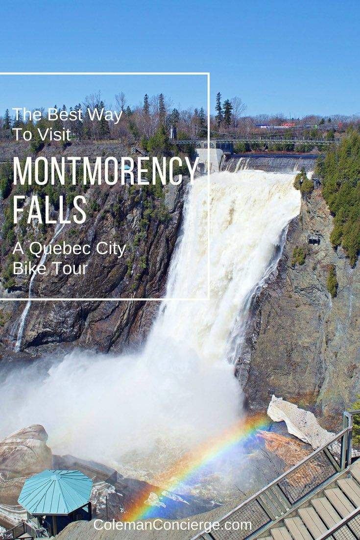 Quebec bike tour the best way to visit montmorency falls
