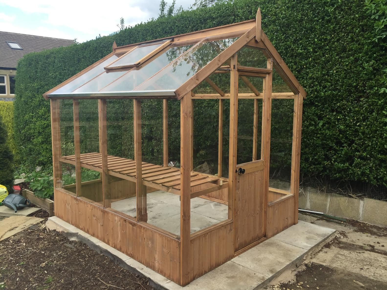 Cotswold classic 6x6 wooden greenhouse wooden for Greenhouse design plans