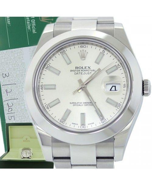 2015 Rolex DateJust II 2 Steel Stick Domed 116300 41mm Watch Box