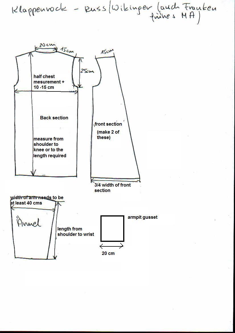 Klappenrock aka viking coat with the crossed lapels