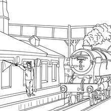 La locomotive entre en gare