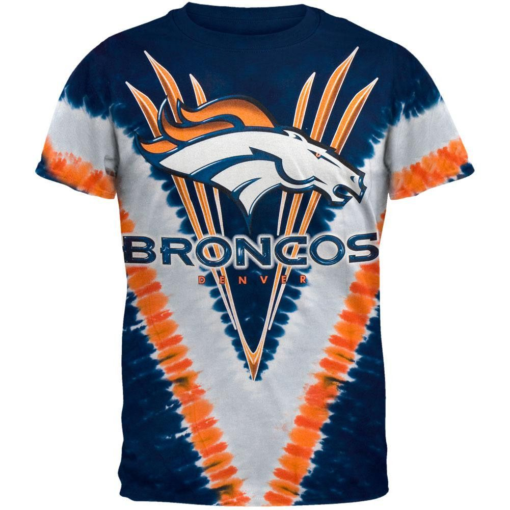 3bd4eef295 Denver Broncos - Logo V-Dye Tie Dye T-Shirt