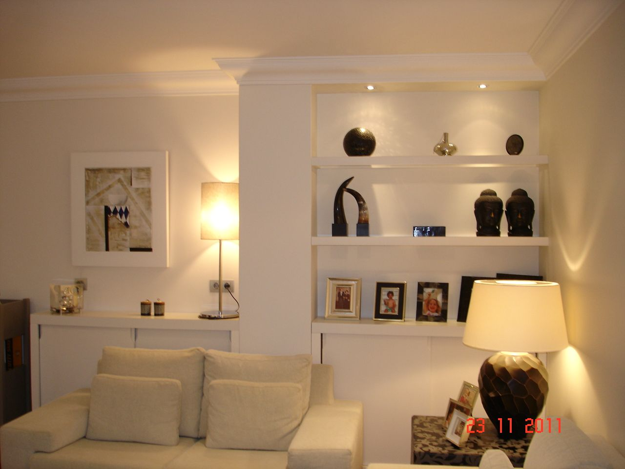 ideas decoracion salon con columna - Buscar con Google | Living room ...