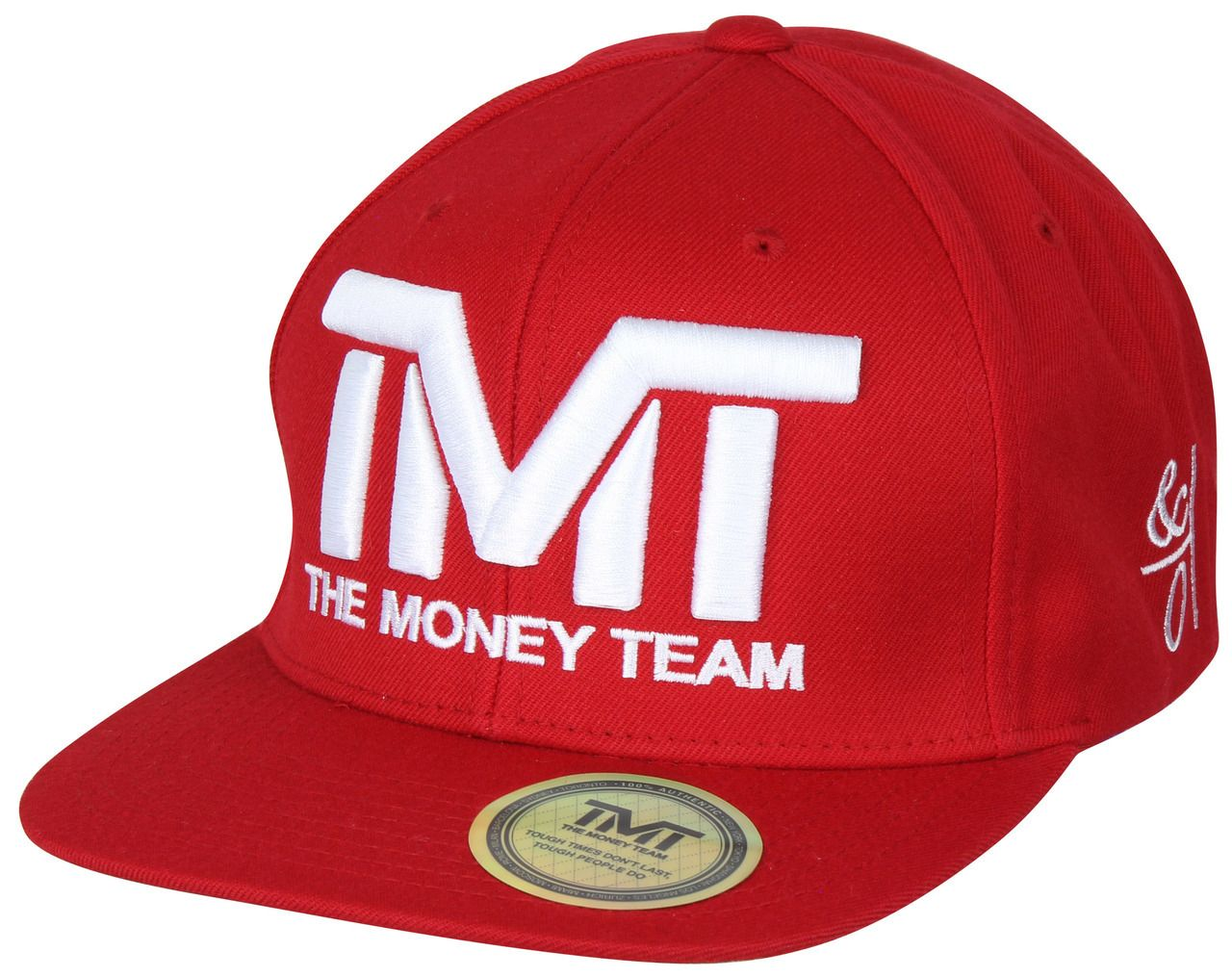 The Money Team TMT Floyd Mayweather Courtside Snapback Hat (Red White) 4abd776a5850