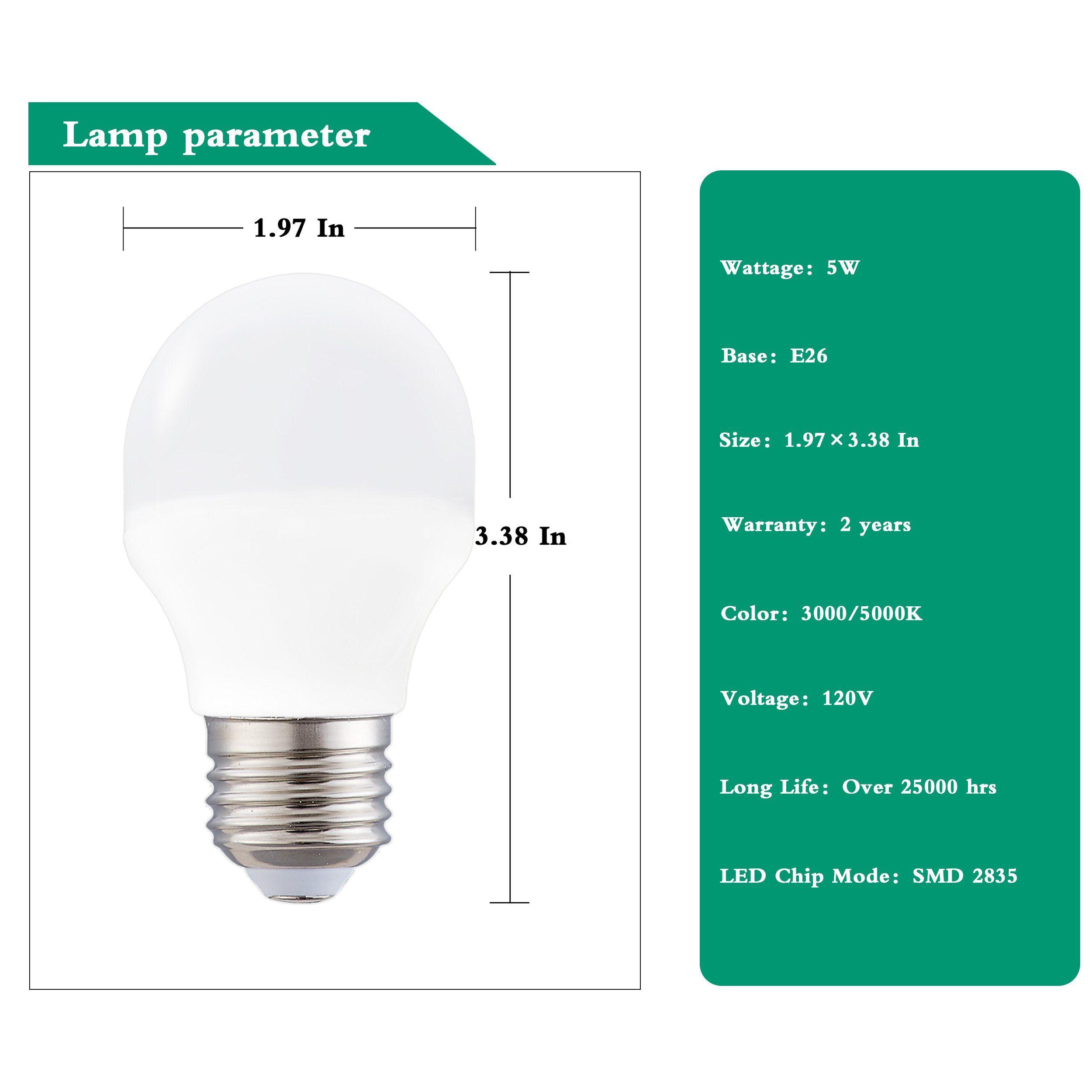 Non Dimmable A15 Led Light Bulb 40w Halogen Equivalent G45 Led Light Bulbse26 Medium Basewarm White 3000k 360lumens4w Led In 2020 Light Bulb Led Light Bulb Led Lights