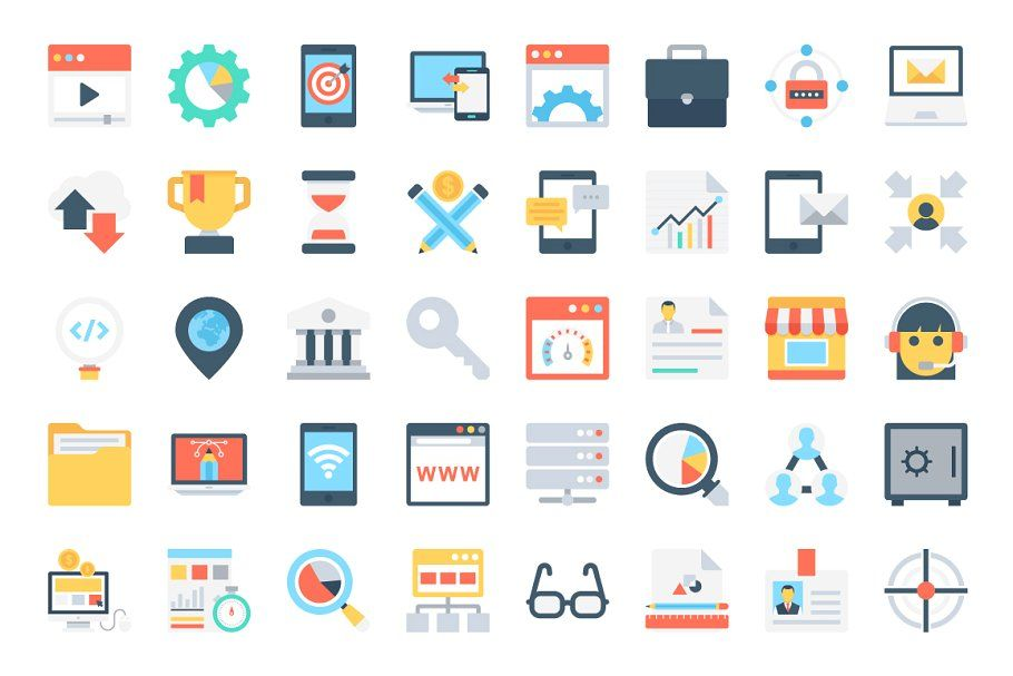 168 flat digital marketing icons in 2020 marketing icon digital marketing icon 168 flat digital marketing icons in