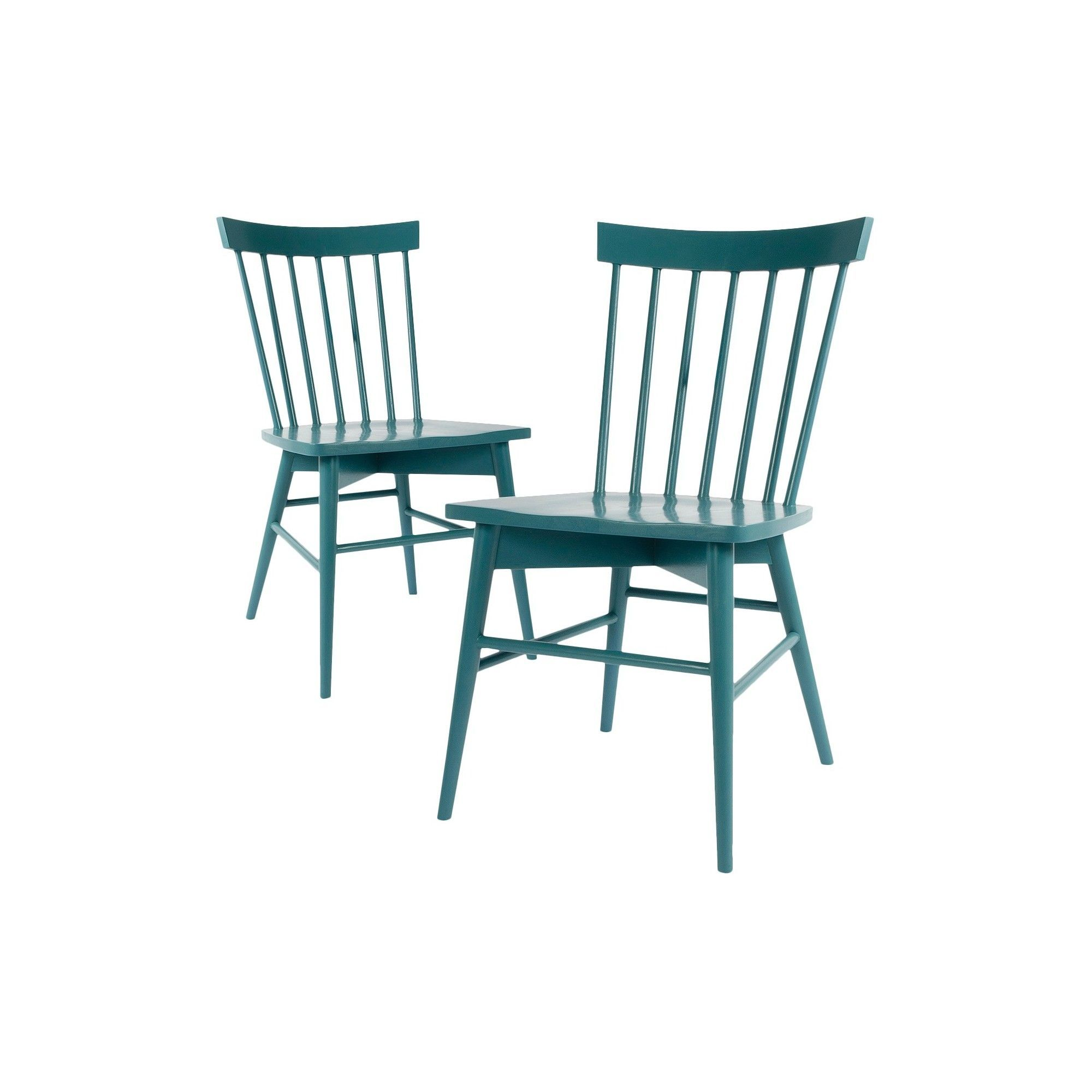Windsor Dining Chair Aqua Blue Set Of 2 Threshold