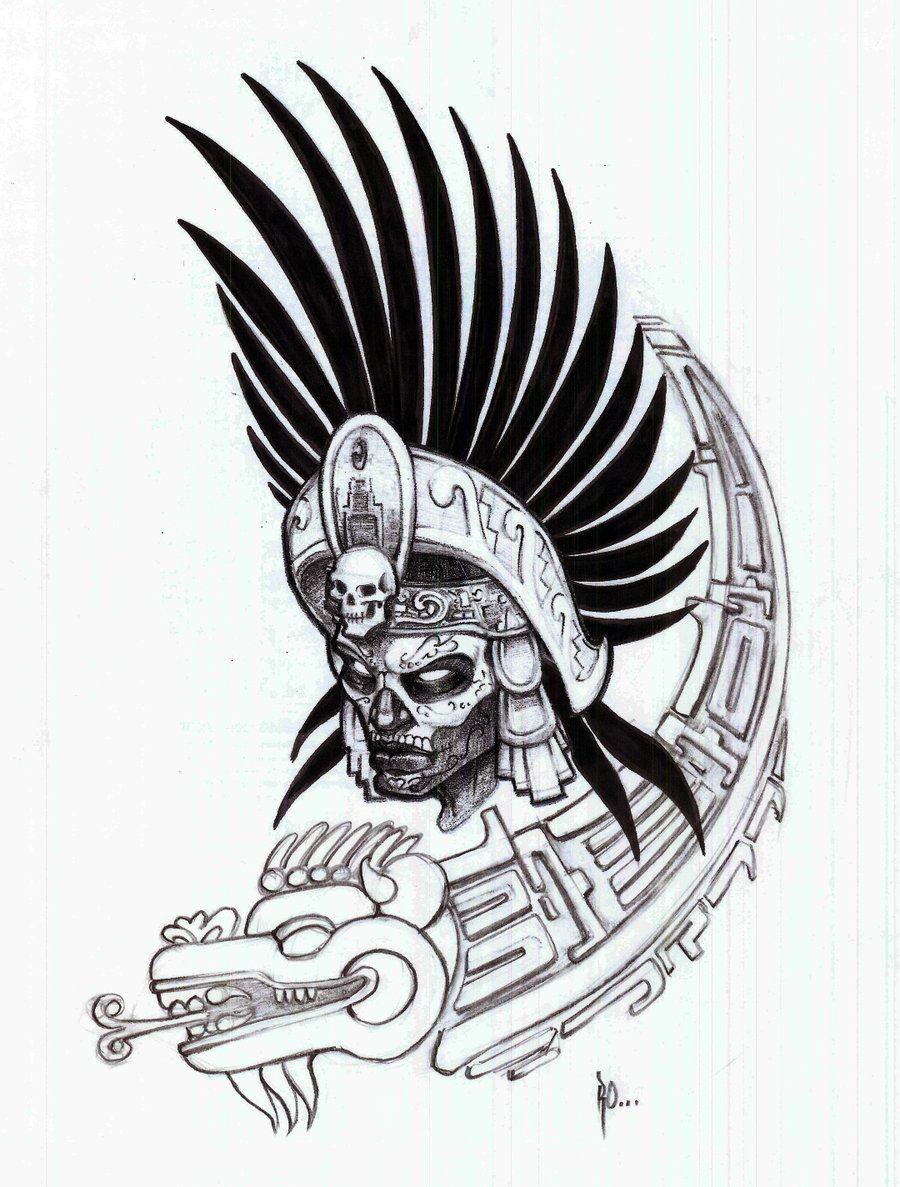 Aztec Warrior Tattoo Sketches Nail Art Tattoo Aztec Warrior Tattoo Aztec Tribal Tattoos Aztec Tattoo