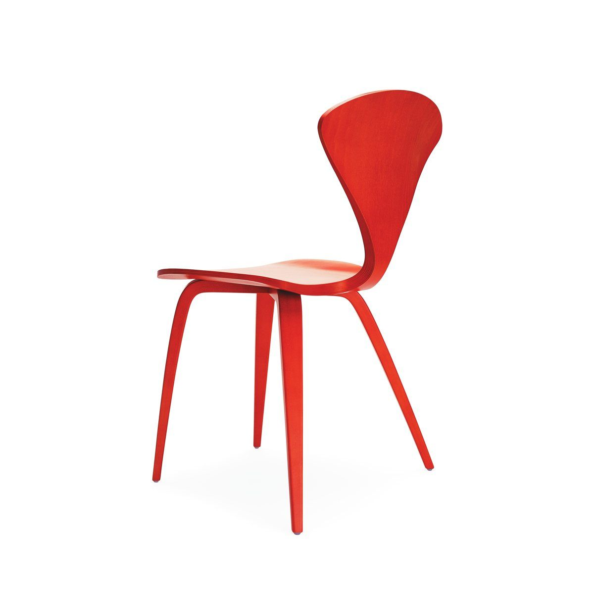 Cherner Side Chair Wood Base By Norman Cherner For The Cherner Chair Company .
