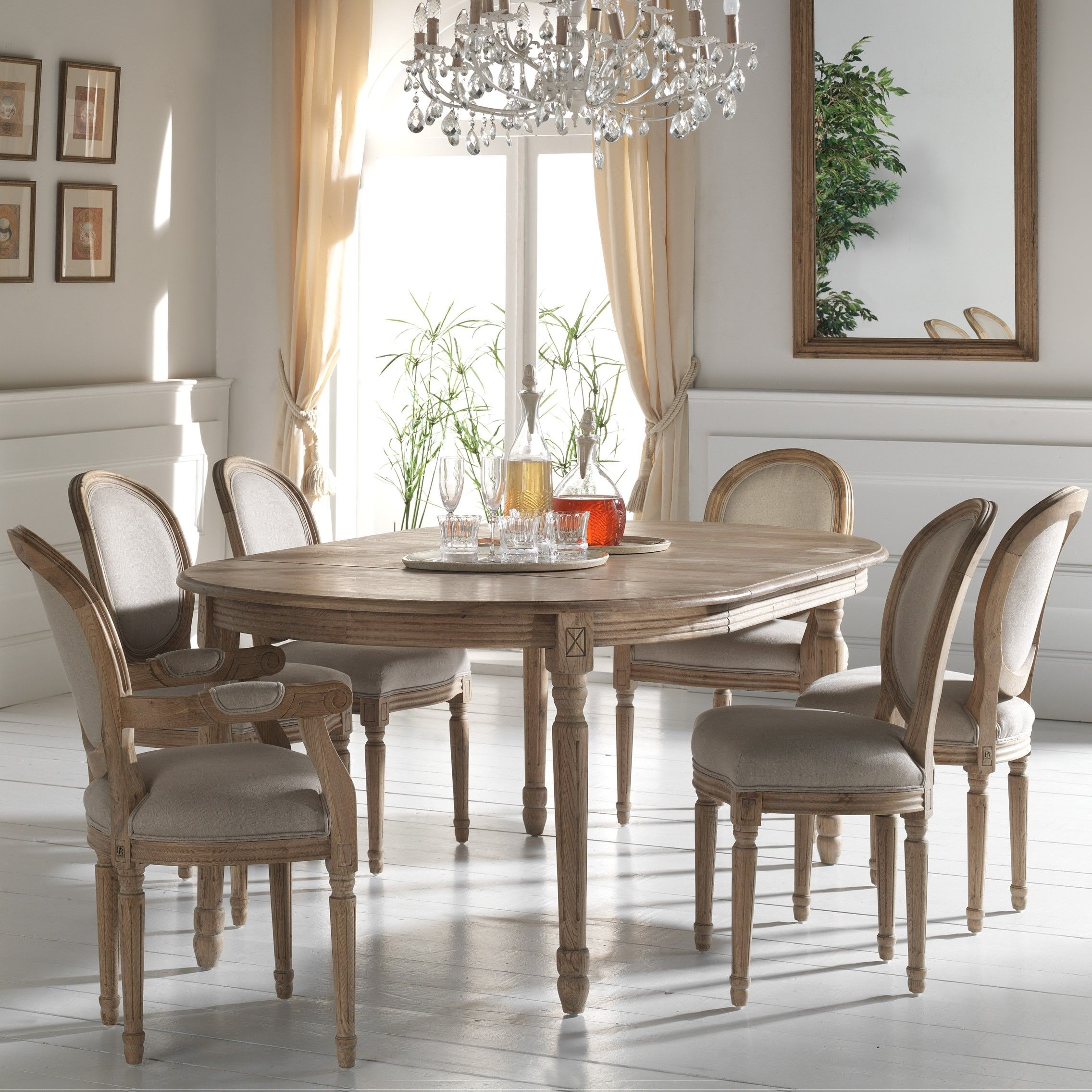 Table Ronde Extensible Bois Chene Clair 120 200 Medicis En 2020 Table Salle A Manger Table A Manger Ronde Et Salle A Manger Table Ovale